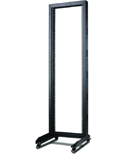OPEN FLOOR RACKS WHEELED BLACK